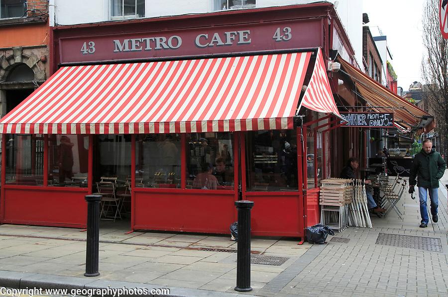 Metro cafe, South William Street, city centre Dublin, Ireland, Irish Republic