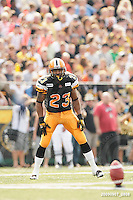 September 7, 2009; Hamilton, ON, CAN; Hamilton Tiger-Cats running back John Williams (23). CFL football - the Labour Day Classic - Toronto Argonauts vs. Hamilton Tiger-Cats at Ivor Wynne Stadium. The Tiger-Cats defeated the Argos 34-15. Mandatory Credit: Ron Scheffler.