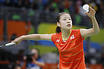 Nozomi Okuhara (JPN), <br /> AUGUST 15, 2016 - Badminton : <br /> Women's Singles Quarter finals<br /> at Riocentro - Pavilion 4 during the Rio 2016 Olympic Games in Rio de Janeiro, Brazil. <br /> (Photo by Yusuke Nakanishi/AFLO SPORT)