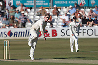 Dom Bess in bowling action for Somerset during Essex CCC vs Somerset CCC, Specsavers County Championship Division 1 Cricket at The Cloudfm County Ground on 25th June 2018