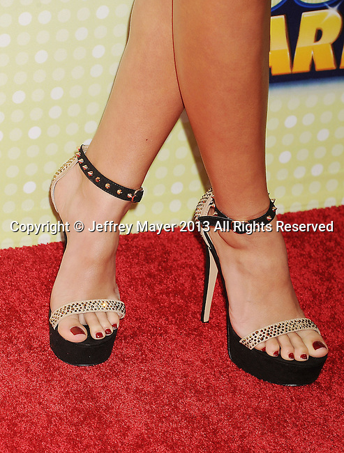 LOS ANGELES, CA- APRIL 27: Actress Madison Pettis (shoe detail) at the 2013 Radio Disney Music Awards at Nokia Theatre L.A. Live on April 27, 2013 in Los Angeles, California.