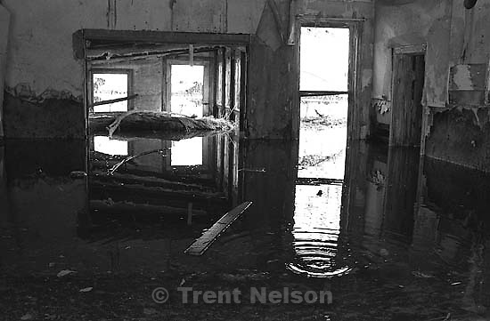 Flooded old homes in Thistle.<br />