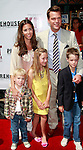 US actor Chris O'Donnell arrives with his wife and sons Chip(left), Charlie and daughter Lily at the world premiere of 'Kit Kittredge: An American Girl' at the Grove in Los Angeles, California on 14 June 2008. The film is based on the American Girl doll line and centers on Kit Kittredge, a young woman who grows up in the early years of the Great Depression.