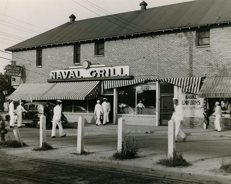 UNDATED..Historical..Naval Grill.Outside NOB Gate 2...NEG#.NRHA#..