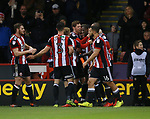 Richard Stearman of Sheffield Utd celebrates scoring his goal during the Championship match at Bramall Lane Stadium, Sheffield. Picture date 26th December 2017. Picture credit should read: Simon Bellis/Sportimage