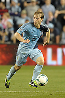 Seth Sinovic (15) defender Sporting KC in action..Sporting Kansas City defeated Montreal Impact 2-0 at Sporting Park, Kansas City, Kansas.