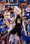 March 31,  2010                              Virginia Commonwealth forward Jamie Skeen (21) shoots over the outstretched arms of Saint Louis forward Brian Conklin (14) in the first half.  The Saint Louis University Billikens hosted the Virginia Commonwealth University Rams in Game Two of the Best of Three Series Championship of the College Basketball Invitational Tournament.   The game was played at SLU's Chaifetz Arena, near downtown St. Louis on Wednesday March 31, 2010.