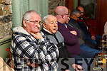 Fishermen at the meeting about the ban on fishing in the Cashen river in Ballyduff at Purcells Bar on Thursday night.