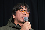 """Director Tatsuya Mori attends a press conference of film """"i-Documentary of the Journalist"""" during the 32nd Tokyo International Film Festival in Tokyo, Japan on November 4, 2019. (Photo by Motoo Naka/AFLO)"""