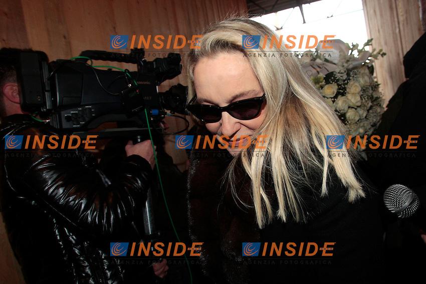 Eleonora Giorgi.Roma 12/01/2012 Chiesa degli Artisti di Piazza del Popolo. Funerali di Mariangela Melato Obsequies..Photo Samantha Zucchi Insidefoto