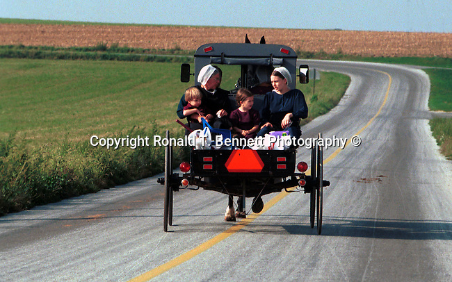 Horse and buggy with amish family on back roads of Pennsylvainia, buggy, amish family, Fine Art Photography by Ron Bennett, Fine Art, Fine Art photography, Art Photography, Copyright RonBennettPhotography.com © Fine Art Photography by Ron Bennett, Fine Art, Fine Art photography, Art Photography, Copyright RonBennettPhotography.com ©