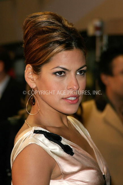 WWW.ACEPIXS.COM . . . . .  ... . . . . US SALES ONLY . . . . .....LONDON, FEBRUARY 22, 2005....Eva Mendes at the UK premiere of Hitch held at Odeon Leicester Square.....Please byline: FAMOUS-ACE PICTURES-F. DUVAL... . . . .  ....Ace Pictures, Inc:  ..Philip Vaughan (646) 769-0430..e-mail: info@acepixs.com..web: http://www.acepixs.com