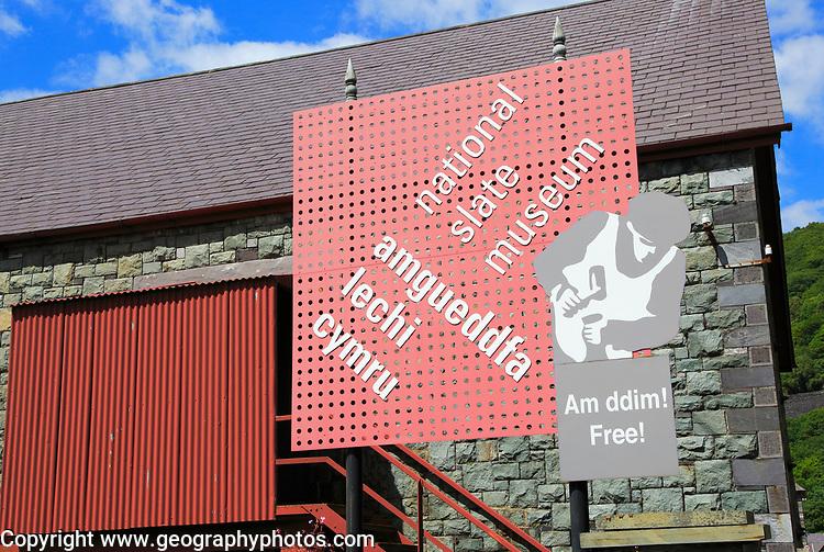 National slate museum, Llanberis, Gwynedd, Snowdonia, north Wales, UK