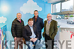 Abbeyfeale Community Council <br /> Seated : Maurice O' Connell, Chairman of Abbeyfeale Community Council. <br /> Back: James Harnett Joint Treasurer, James Dennison Secretrary & Frank Dennison Joint Treasurer.