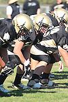 Palos Verdes, CA 09/24/10 - Eric Dumas (Peninsula #65)  in action during the Serra-Peninsula varsity football game at Peninsula High School.
