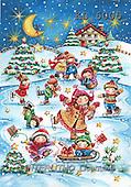 Interlitho, CHRISTMAS CHILDREN, paintings+++++,children,ice skating,KL6005,#xk# Theresa
