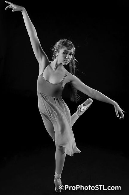 Missouri Ballet Theatre studio shots in B&W