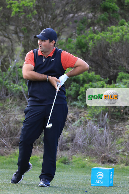 Patrick Reed (USA) in action at Spyglass Hill Golf Course during the second round of the AT&amp;T Pro-Am, Pebble Beach Golf Links, Monterey, USA. 08/02/2019<br /> Picture: Golffile | Phil Inglis<br /> <br /> <br /> All photo usage must carry mandatory copyright credit (&copy; Golffile | Phil Inglis)