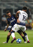 Football Soccer: UEFA Champions League FC Internazionale Milano vs Tottenham Hotspur FC, Giuseppe Meazza stadium, September 15, 2018.<br /> Inter's Matteo Politano (l) in action with Tottenham's Mouse Dembélé (r) during the Uefa Champions League football match between Internazionale Milano and Tottenham Hotspur at Giuseppe Meazza (San Siro) stadium, September 18, 2018.<br /> UPDATE IMAGES PRESS/Isabella Bonotto