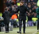20.02.2020 Rangers v SC Braga: Steven Gerrard celebrates