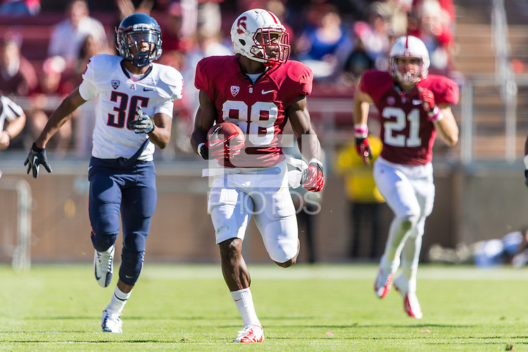 STANFORD, CA - OCTOBER 6, 2012:  Stanford Cardinal vs the Arizona Wildcats at Stanford Stadium. Stanford defeated Arizona 54-48 in overtime.