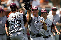 Texas AM wins 0709.jpg.  Big 12 Baseball game with Texas A&M Aggies at Texas Lonhorns  at UFCU Disch Falk Field on May 9th 2009 in Austin, Texas. Photo by Andrew Woolley.