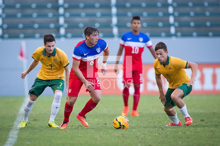 Carson, California - Friday, July18, 2014: The U.S. U-20 MNT ties Australia 0-0 and wins the US Soccer National Training Center (NTC) Invitational tournament at StubHub Center stadium.