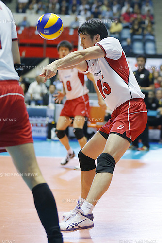 Masahiro Yanagida (JPN), SEPTEMBER 21, 2015 - Volleyball : FIVB Men's World Cup 2015 A-site 3rd Round between Japan 0-3 Argentina 1st Yoyogi Gymnasium in Tokyo, Japan. (Photo by Yusuke Nakanishi/AFLO SPORT)