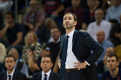 3rd November 2017, Palau Blaugrana, Barcelona, Spain; Turkish Airlines Euroleague Basketball, FC Barcelona Lassa versus Olympiacos Piraeus; Sito Alonso coach of FC Barcelona in action during the match of round 5 of regular season in the 2017/2018 Turkish Airlines EuroLeague