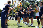 CHAPEL HILL, NC - MAY 20: Navy's Morgan Young (17) during player introductions. The University of North Carolina Tar Heels hosted the U.S. Naval Academy Midshipmen on May 20, 2017, at Fetzer Field in Chapel Hill, NC in an NCAA Women's Lacrosse Tournament Quarterfinal match. Navy won the game 16-14.