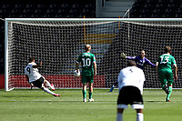 18th July 2020; Craven Cottage, London, England; English Championship Football, Fulham versus Sheffield Wednesday; Aleksandar Mitrovic of Fulham scores from the penalty spot in the 41st minute for 3-0