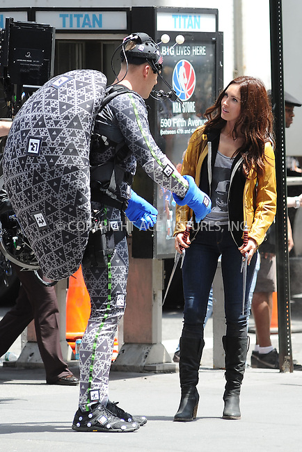 WWW.ACEPIXS.COM . . . . . .May 20, 2013...New York City....Megan Fox on the film set  'Teenage Mutant Ninja Turtles' in Times Square on May 20, 2013 in New York City ....Please byline: KRISTIN CALLAHAN - ACEPIXS.COM.. . . . . . ..Ace Pictures, Inc: ..tel: (212) 243 8787 or (646) 769 0430..e-mail: info@acepixs.com..web: http://www.acepixs.com .