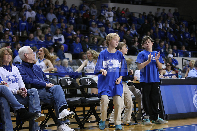 Young fans cheer on UK Hoops during the second half of the women UK hoops vs. Northern Kentucky University at Memorial Coliseum. Wednesday, December 3, 2014 in Lexington. Photo by Joel Repoley | Staff