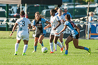Kansas City, MO - Sunday September 11, 2016: Sofia Huerta, Tiffany McCarty, Desiree Scott, Sarah Gorden during a regular season National Women's Soccer League (NWSL) match between FC Kansas City and the Chicago Red Stars at Swope Soccer Village.