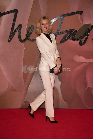 Eva Herzigova<br /> The Fashion Awards 2016 , arrivals at the Royal Albert Hall, London, England on December 05 2016.<br /> CAP/PL<br /> ©Phil Loftus/Capital Pictures /MediaPunch ***NORTH AND SOUTH AMERICAS ONLY***