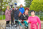 Members of the Tralee International Resource Centre Craft Group, Craft Bombing for National Arts Week at the Rose of Tralee Statue in the Town Park on Friday From left to right, Delia Lucid, Mary Shanahan, Bettina Hoare, Alex Shanahan and Kristine Silina