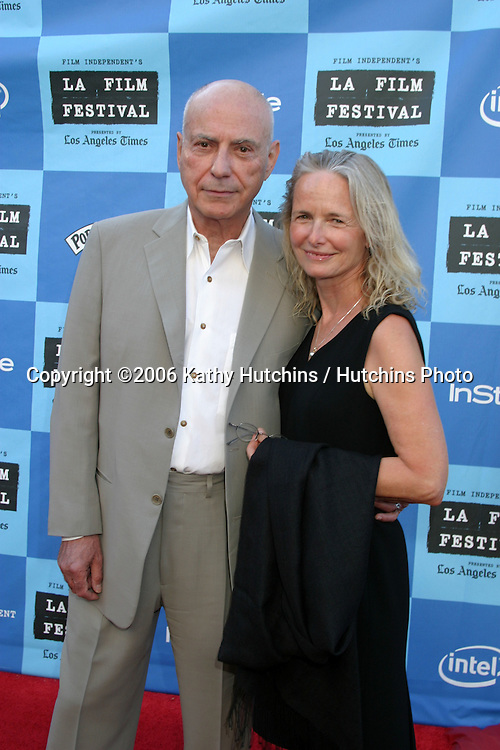 "Alan Arkin & Wife.""Little Miss Sunshine"" Premiere.Wadsworth Theater.Westwood, CA.July 2, 2006.©2006 Kathy Hutchins / Hutchins Photo...."