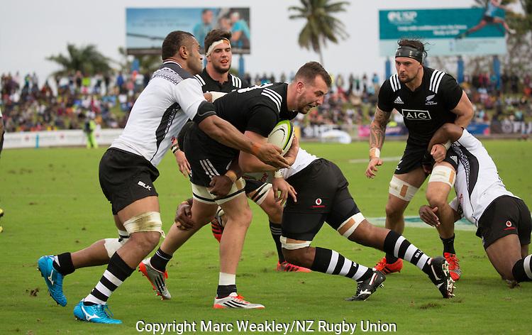 Blade Thomson. Maori All Blacks vs. Fiji. Suva. MAB's won 27-26. July 11, 2015. Photo: Marc Weakley