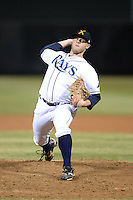 Salt River Rafters pitcher Matt Ramsey (47), of the Tampa Bay Rays organization, during an Arizona Fall League game against the Surprise Saguaros on October 15, 2013 at Salt River Fields at Talking Stick in Scottsdale, Arizona.  Surprise defeated Salt River 9-2.  (Mike Janes/Four Seam Images)
