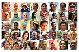 MAURITIUS, a grid representing some of the faces of Mauritius