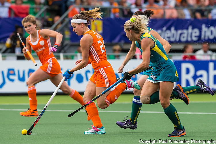Netherlands Women vs Australia Women at the Rabobank Hockey World Cup 2014