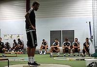 Pictured: Tuesday 30 June 2015<br /> Re: Pre-season assessment of Swansea City FC players on the grounds of Swansea University, south Wales, UK