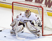 Parker Milner (BC - 35) - The Boston College Eagles defeated the University of Massachusetts-Amherst Minutemen 6-5 on Friday, March 12, 2010, in the opening game of their Hockey East Quarterfinal matchup at Conte Forum in Chestnut Hill, Massachusetts.