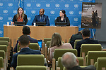 Cradled by Conflict: Child Involvement with Armed Groups in Contemporary Conflict - Press Conference (12 February 2018)<br /> 12 Feb 2018 - 	Press conference by Dr. Siobhan O&rsquo;Neil, Project Manager of the United Nations University&rsquo;s Children and Extreme Violence Project and editor of the report entitled Cradled by Conflict: Child Involvement with Armed Groups in Contemporary Conflict, along with Mr. Boukary Sangar&eacute; and Ms. Mara Revkin, lead researchers of the report
