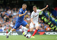 Mateo Kovacic of Chelsea takes on the Sheffield United defence during Chelsea vs Sheffield United, Premier League Football at Stamford Bridge on 31st August 2019