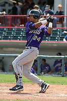 May 11, 2005:  Outfielder Franklin Gutierrez of the Akron Aeros during a game at Jerry Uht Park in Erie, PA.  Akron is the Double-A Eastern League affiliate of the Cleveland Indians.  Photo By Mike Janes/Four Seam Images