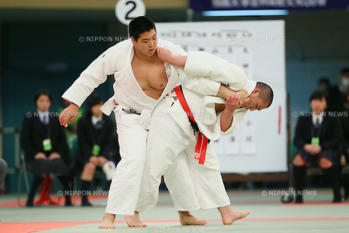 (L to R) <br /> Yusei Ogawa (Shutoku), <br /> Hyoga Ota (Hakuoh Ashikaga), <br /> MARCH 21, 2014 - Judo : <br /> The 36th All Japan High School Judo Tournament <br /> Men's Team Final <br /> at Nippon Budokan, Tokyo, Japan. <br /> (Photo by YUTAKA/AFLO SPORT) [1040]