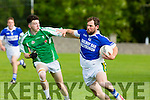 In Action Rangers Mikey Boyle and St. Brendan's Paul McMahon at the  Garvey's SuperValu Senior County Championship Round 2 Shannon Rangers V St. Brendan's at Frank Sheehy Park, Listowel on Saturday