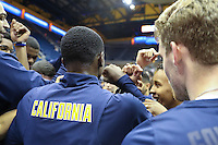 BERKELEY, CA - October 3, 2016: Cal Bears Men's Basketball team vs. California Baptist University Lancers at Haas Pavilion. Final score, Cal Bears 81, California Baptist University Lancers 73.