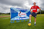 Rangers manager Mark Warburton with the Scottish Championship league flag